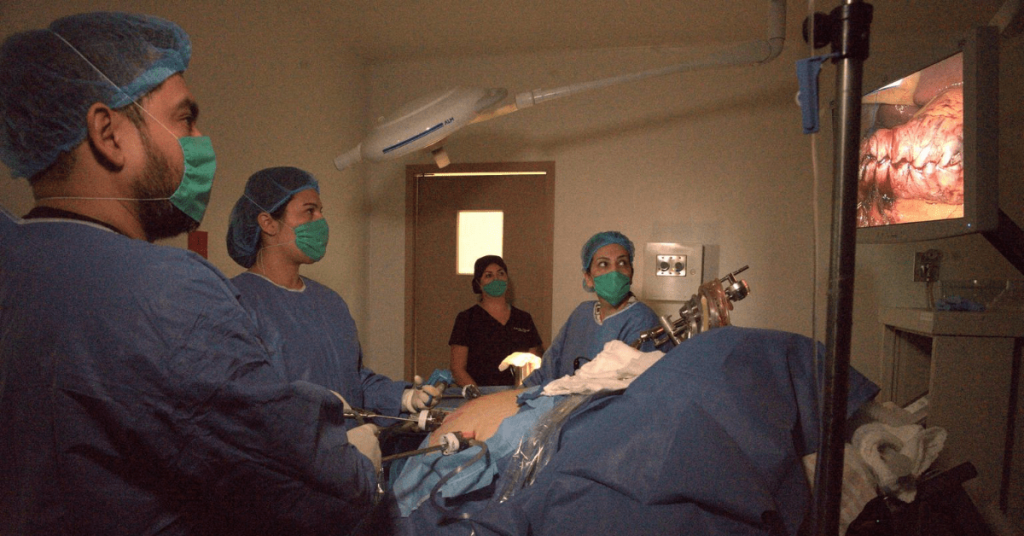 Medical Team Performing Bariatric Surgery - Mexico Gastric Sleeve Surgery