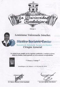 Dr Valenzuela - Certificate La Universidad