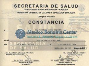 Dr Valenzuela - Secretaria De Salud Constancia