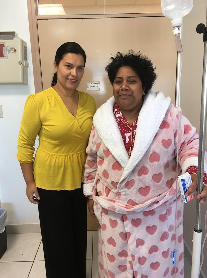 Louisiana Valenzuela Post-Op Surgery with Patient